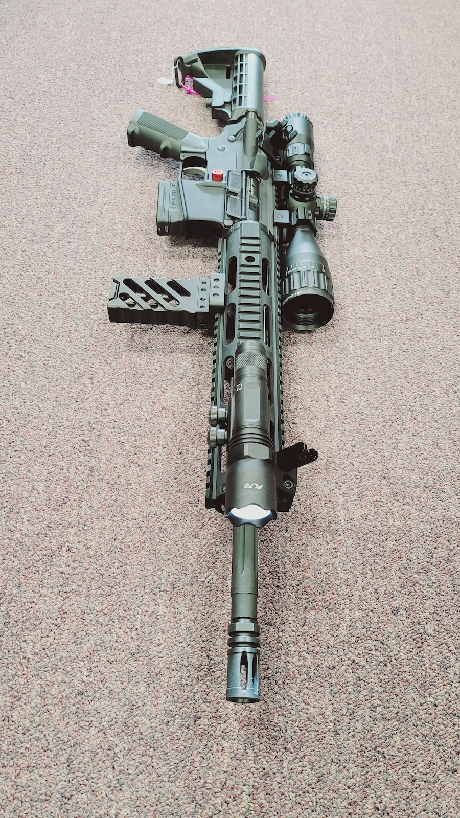 ANDERSON MFG. Special Edition Fixed Magazine AM-15 with flashlight foregrip & Red Dot sight package