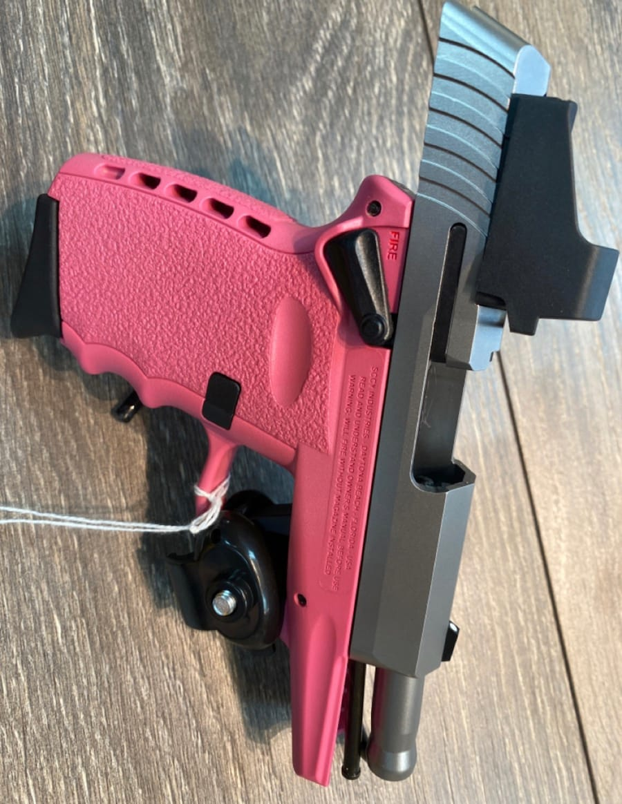 SCCY CPX-1 PINK W/ CT RED DOT