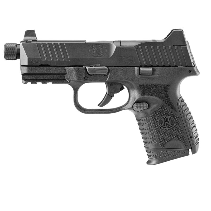 """FN America FNH FN-509 Compact Tactical 9mm Luger Semi Auto Pistol 4.32"""" Threaded Barrel 24 Rounds Ambidextrous Controls Polymer Frame Black"""