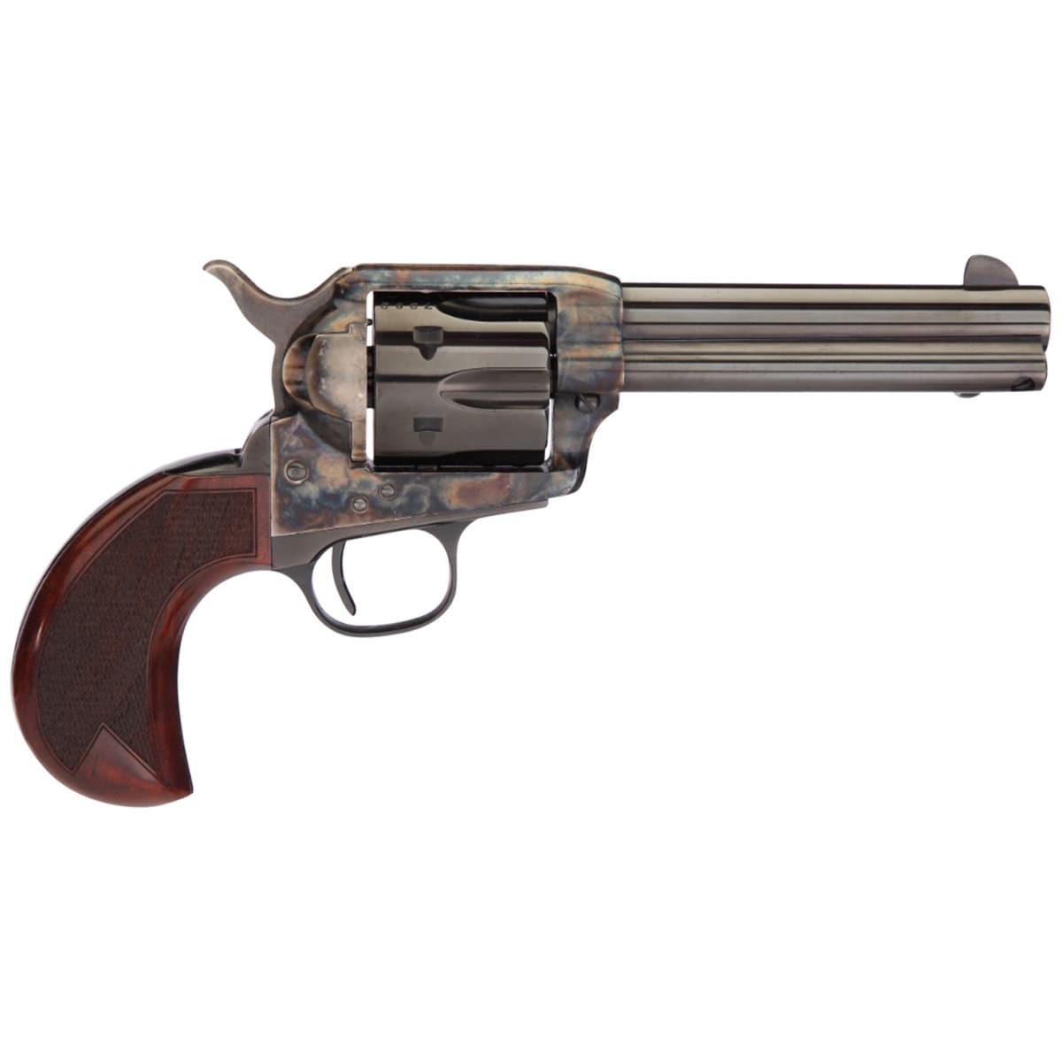 TAYLOR'S & CO. Taylors and Company 1873 Cattleman Birdshead 45 (Long) Colt 4.75in Blued Revolver - 6 Rounds