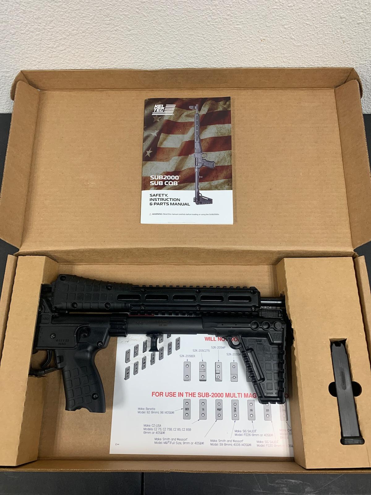KEL-TEC SUB 2000 SUB-2K9 Glock GLK17 BLK