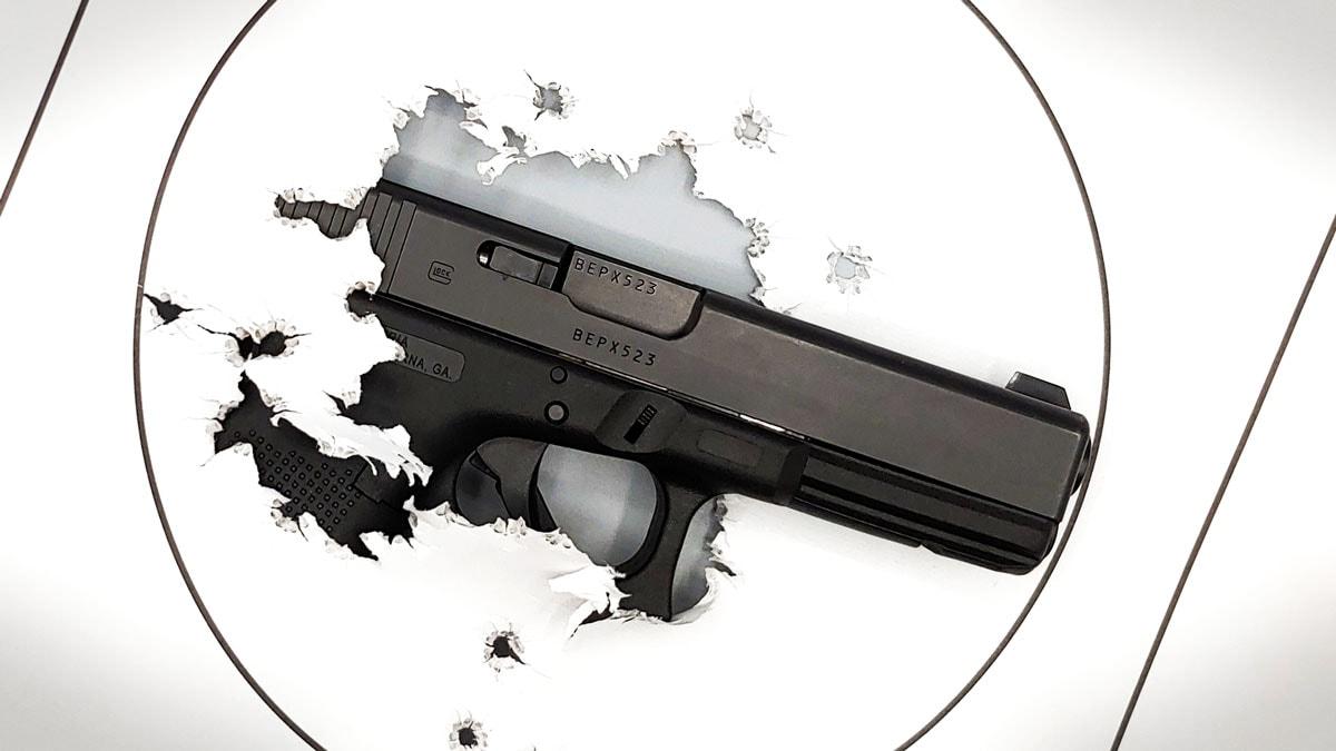 G17 poking through target