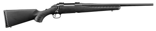 """RUGER AMERICAN COMPACT 243WIN BL/SY 6908 18"""" BARREL 243 Win"""