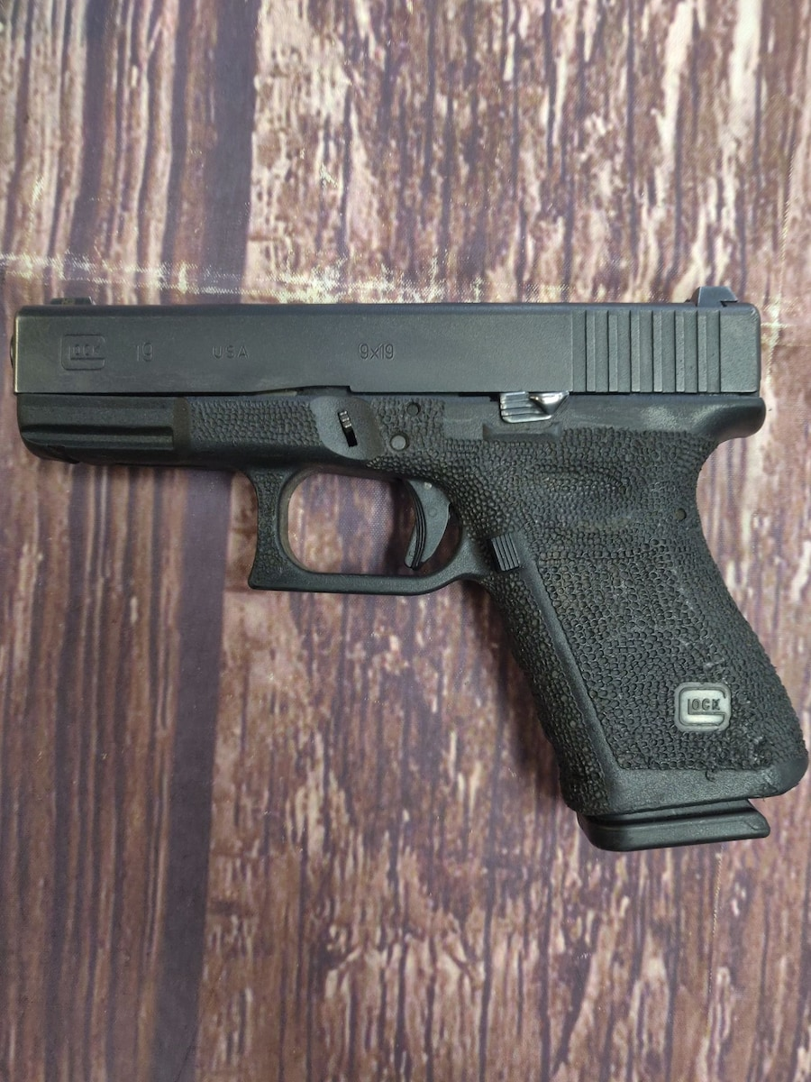 GLOCK 19 G19 Gen 3 Stippled with EXTENDED SLIDE RELEASE AND EXTENDED MAG RELEASED