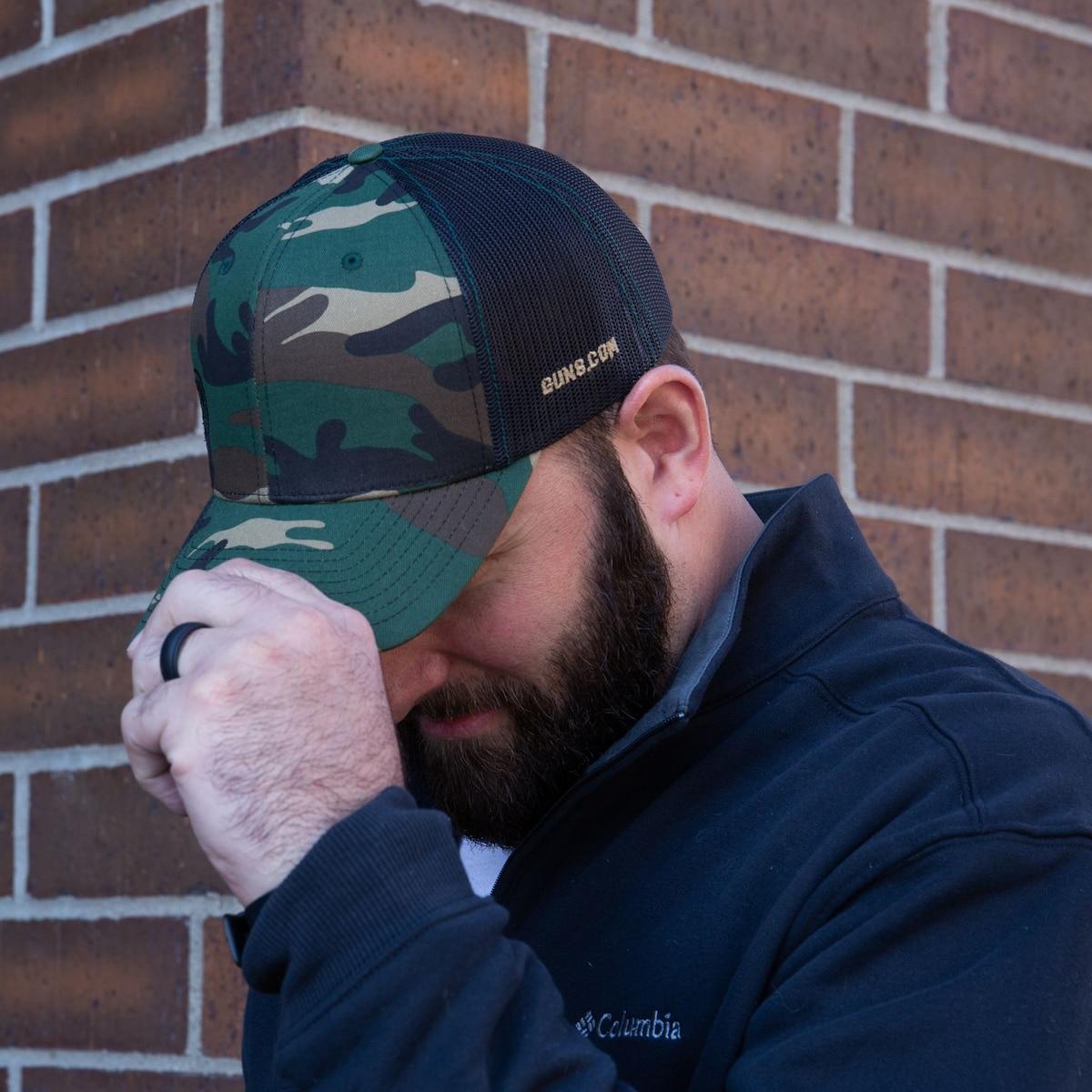 GUNS.COM Woodland Camo Snapback Hat