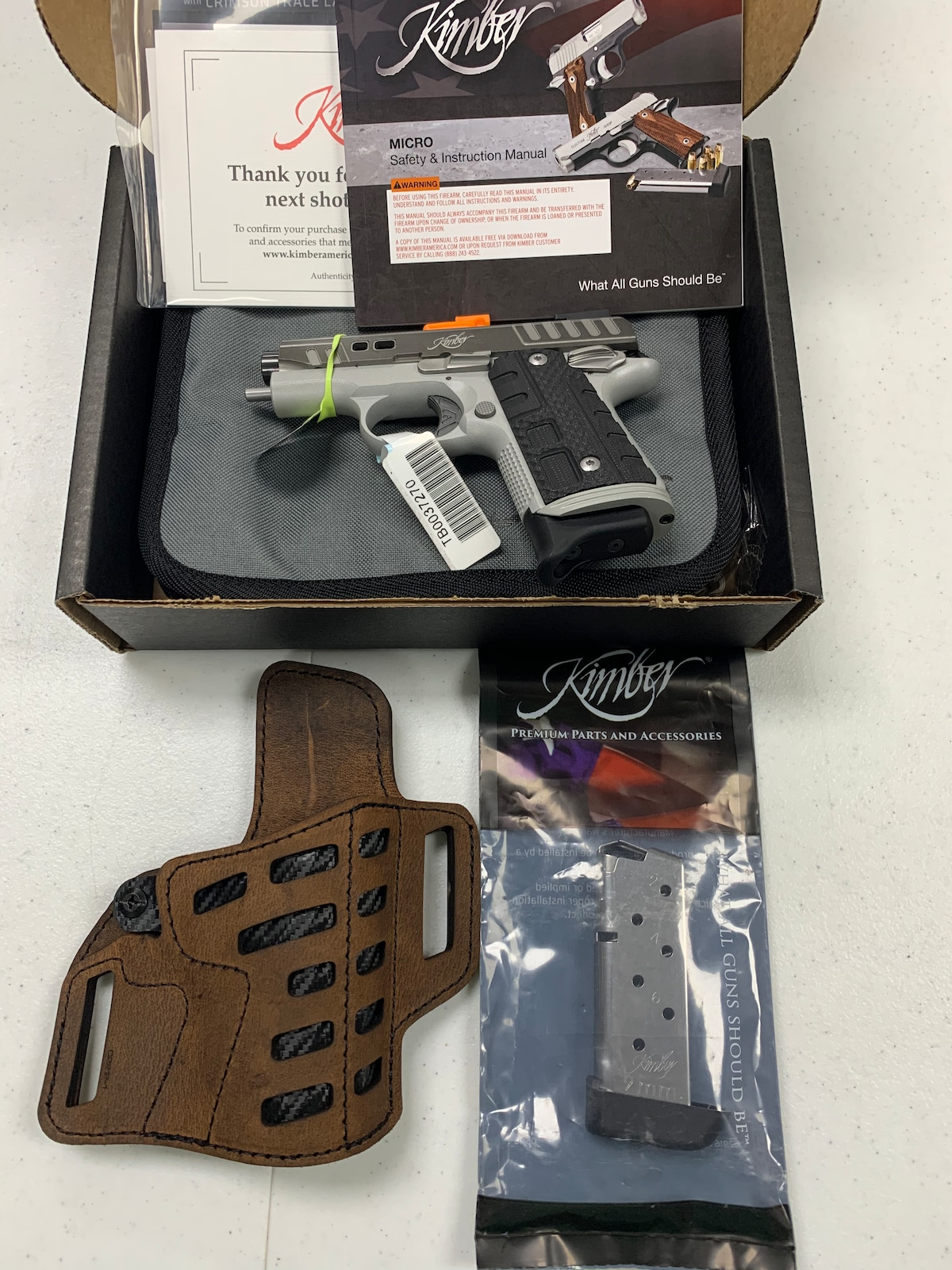 KIMBER Micro9 Rapide Black Ice 9mm two 8 rounds magazines