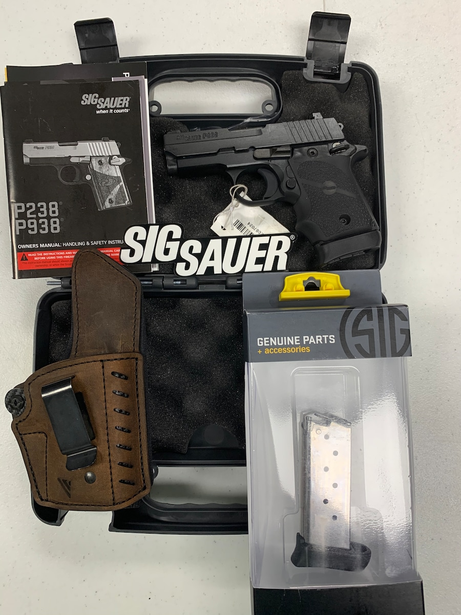 SIG SAUER 238 p238 nitron two 7+1 round magazines w/night sights