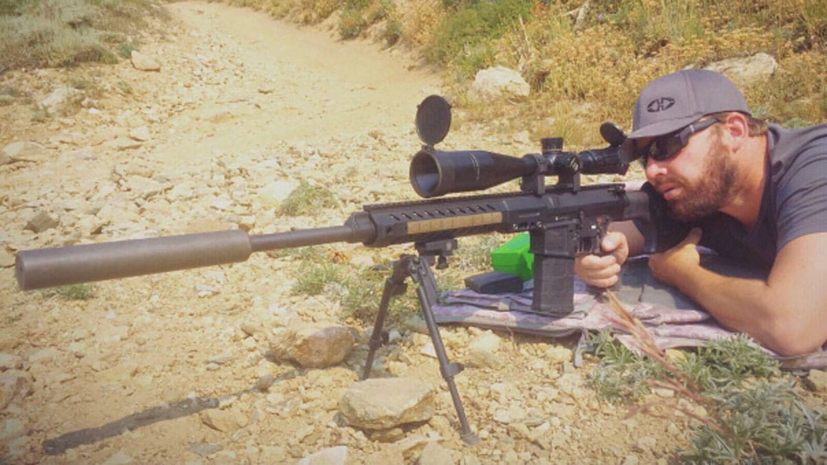 modified ar rifle used to hunt