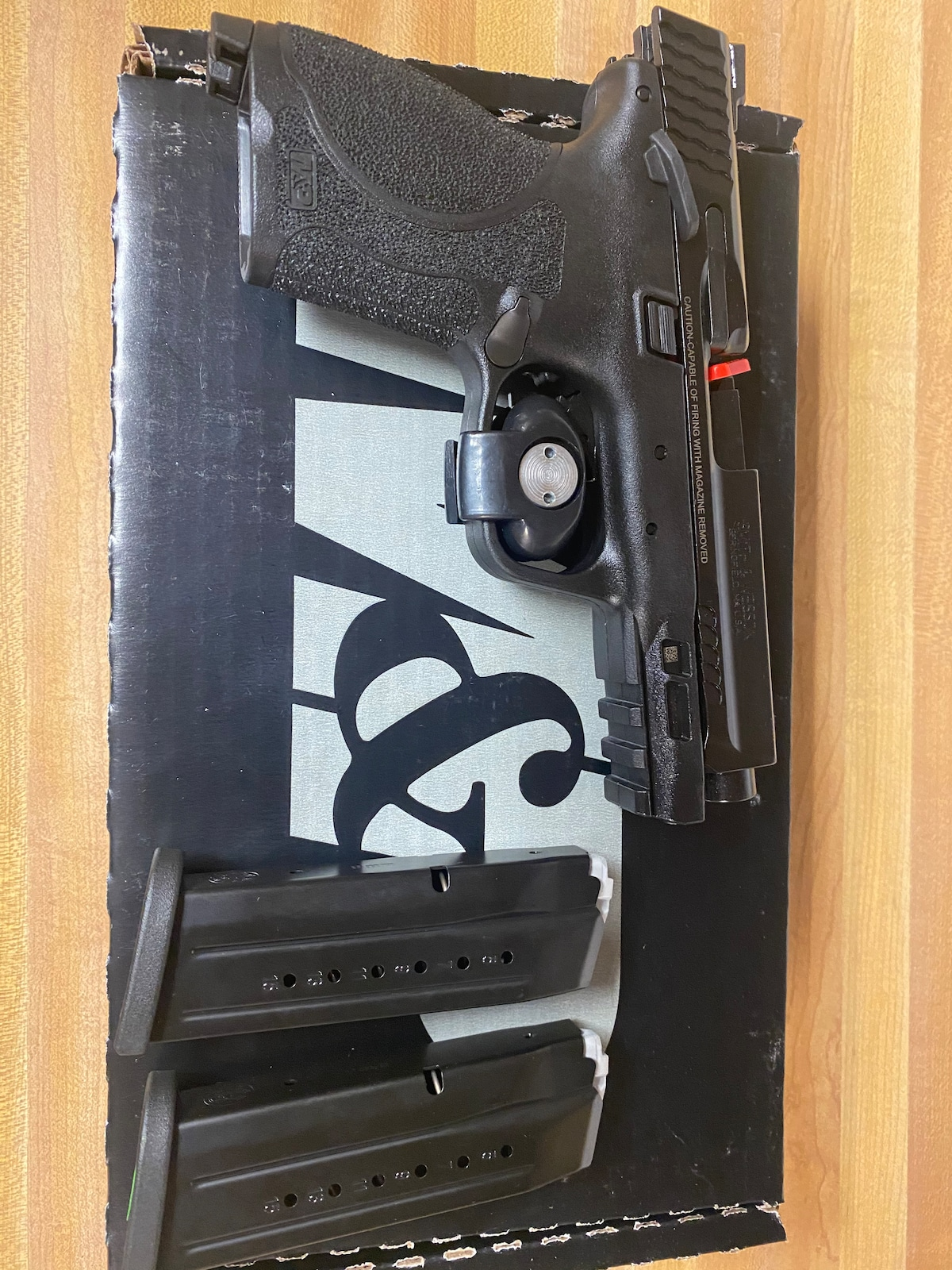 """SMITH AND WESSON M&P9 M2.0 CPT 9MM 15+1 4.6"""" TB"""