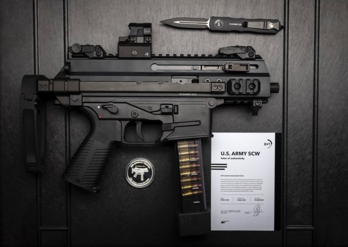 "BRUGGER & THOMET B&T APC9K U.S. Army SCW Commemorative Edition PRO Pistol, 9mm, 5.5"""