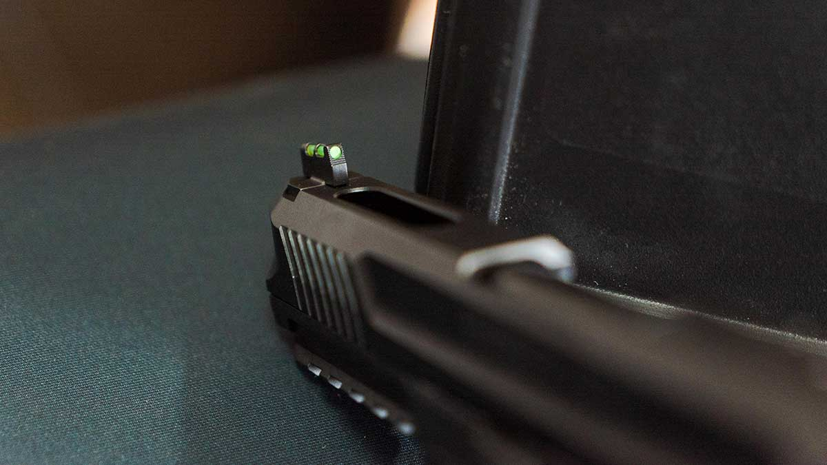 ruger 57 close up sight view