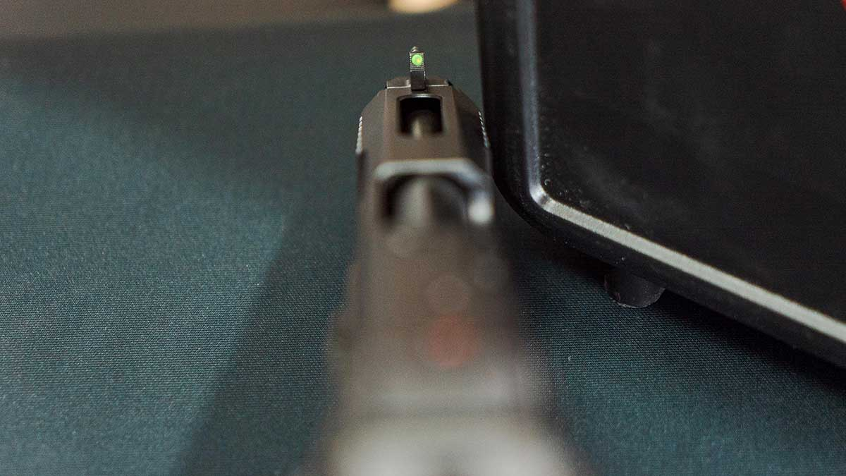 ruger 57 close up top view