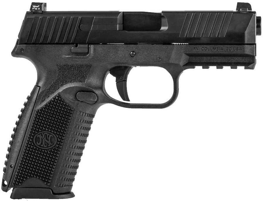 "FN America FNH FN 509 Full Size 9mm Luger Semi Auto Pistol 4"" Barrel 17 Rounds Fixed 3 Dot Night Sights Ambidextrous Controls Polymer Frame Matte Black"