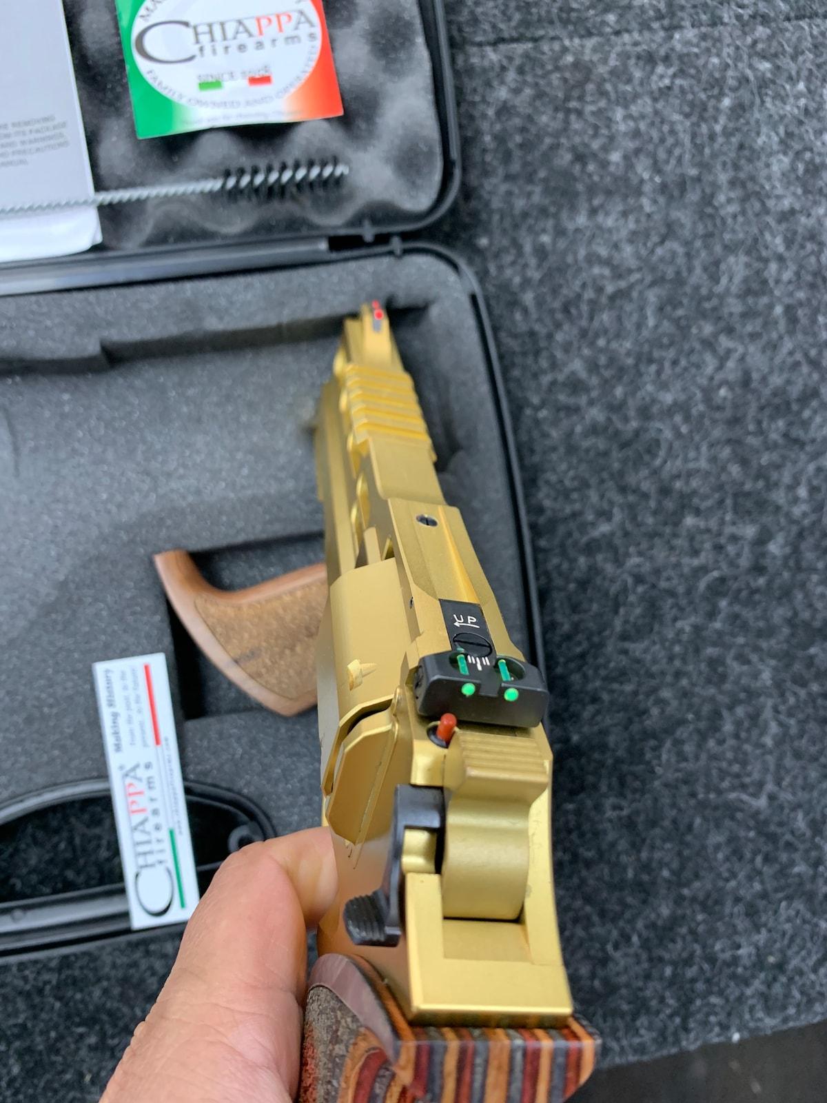 CHIAPPA FIREARMS rhino 60ds gold 357 magnum