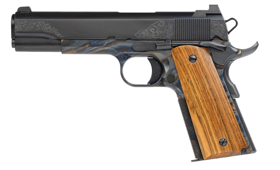 """DAN WESSON FIREARMS Dan Wesson 01822 Heirloom 2020 45 ACP 5"""" 8+1 Case Colored Black Stainless Steel French Walnut Grip"""
