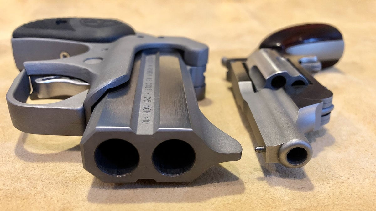 Bond Arms Derringer vs. NAA Revolver