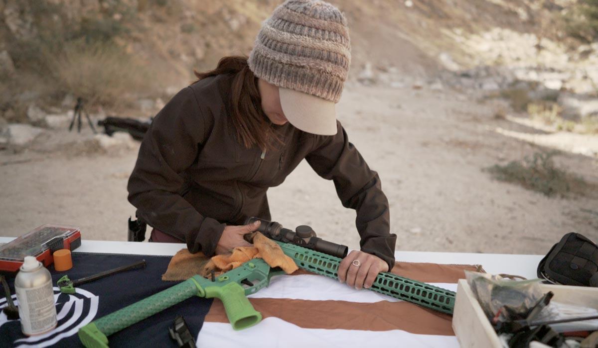 quick clean ar-15 rifle