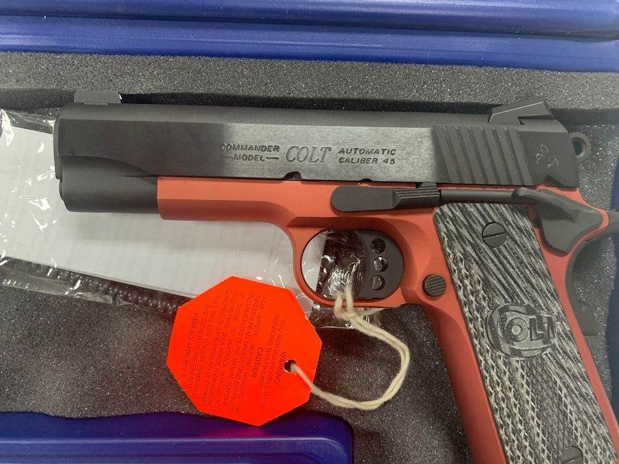 COLT LIGHT WEIGHT COMMANDER TALO 1 OF 400 RED ANODIZE