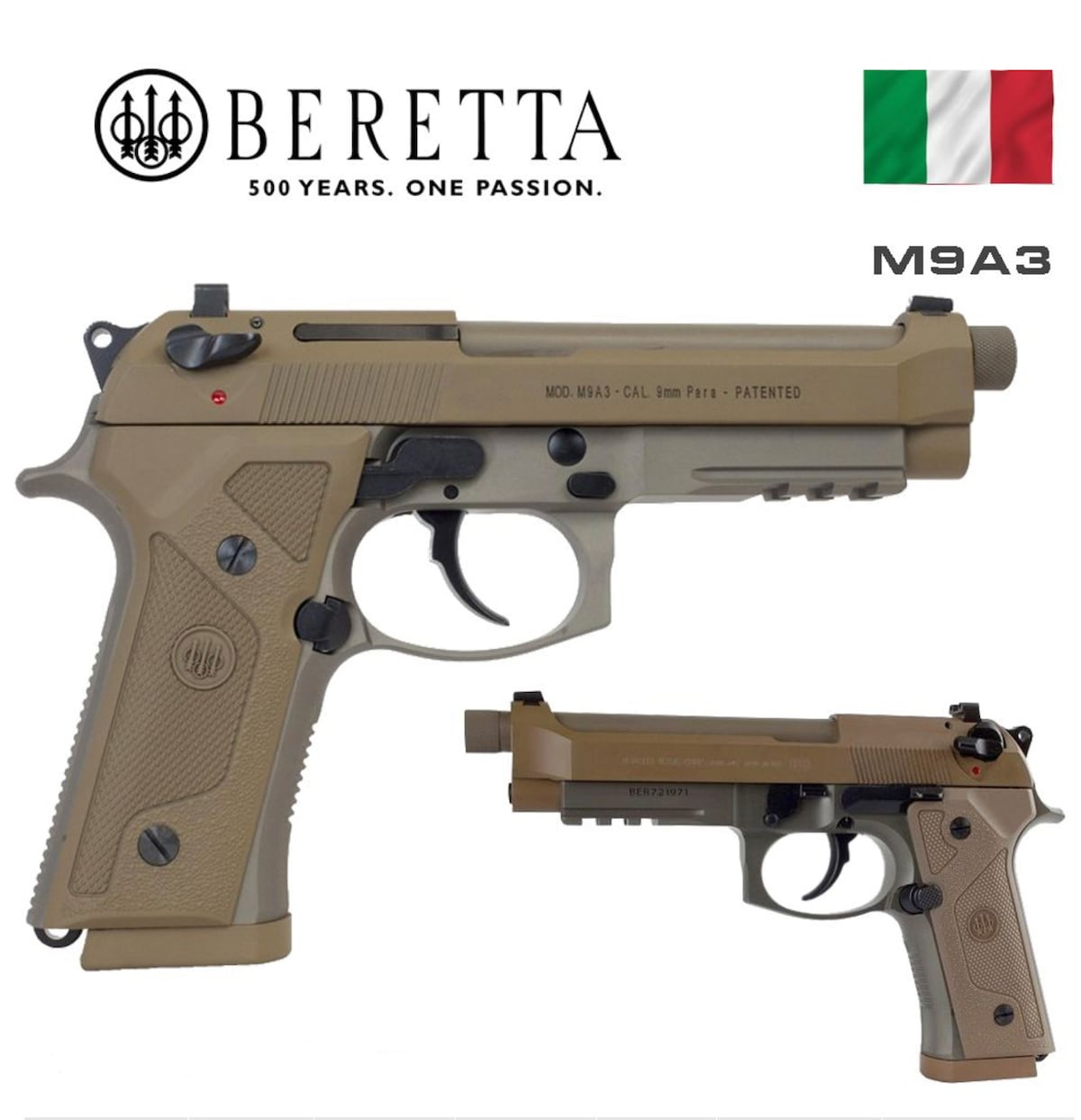 BERETTA M9A3 Type F JS92M9A3M THREADED