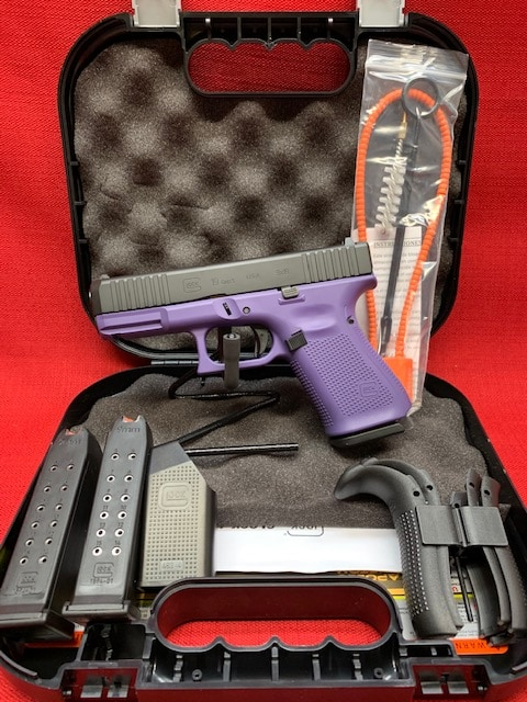 GLOCK 19 G19 GEN 5 G5 9MM APOLLO CUSTOM PURPLE COATING WITH BLACK SLIDE