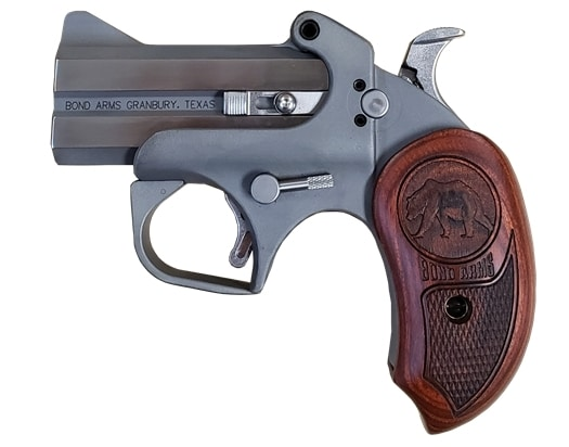 """BOND ARMS GRIZZLY 45LC/410 SS 3"""" FS HLST ROSEWOOD GRIPS 