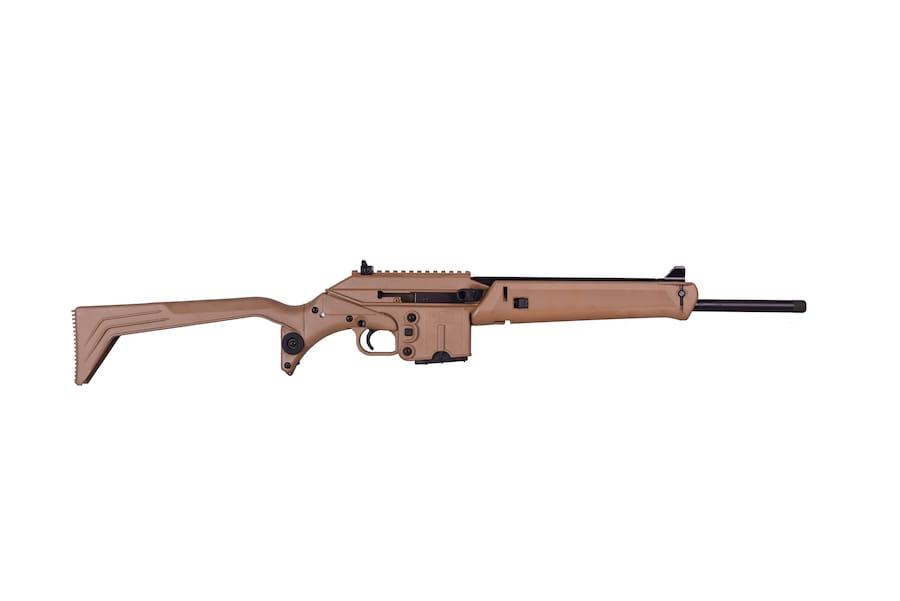 "KEL-TEC SU-16C 223REM BL/TAN 16"" 10+1 CAN BE FIRED WITH STOCK FOLDED 223 Rem 