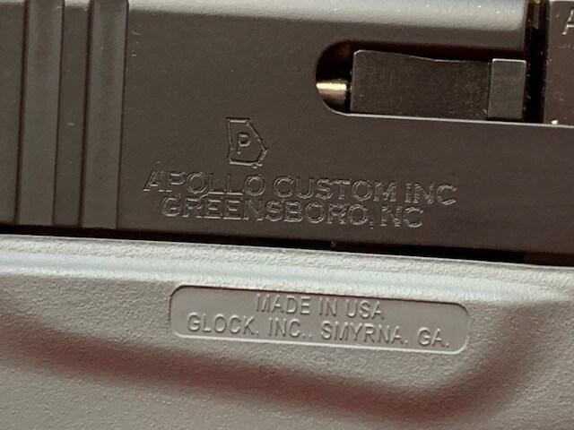 GLOCK 43 G43 9MM APOLLO CUSTOM CONGRY CONCRETE GRAY