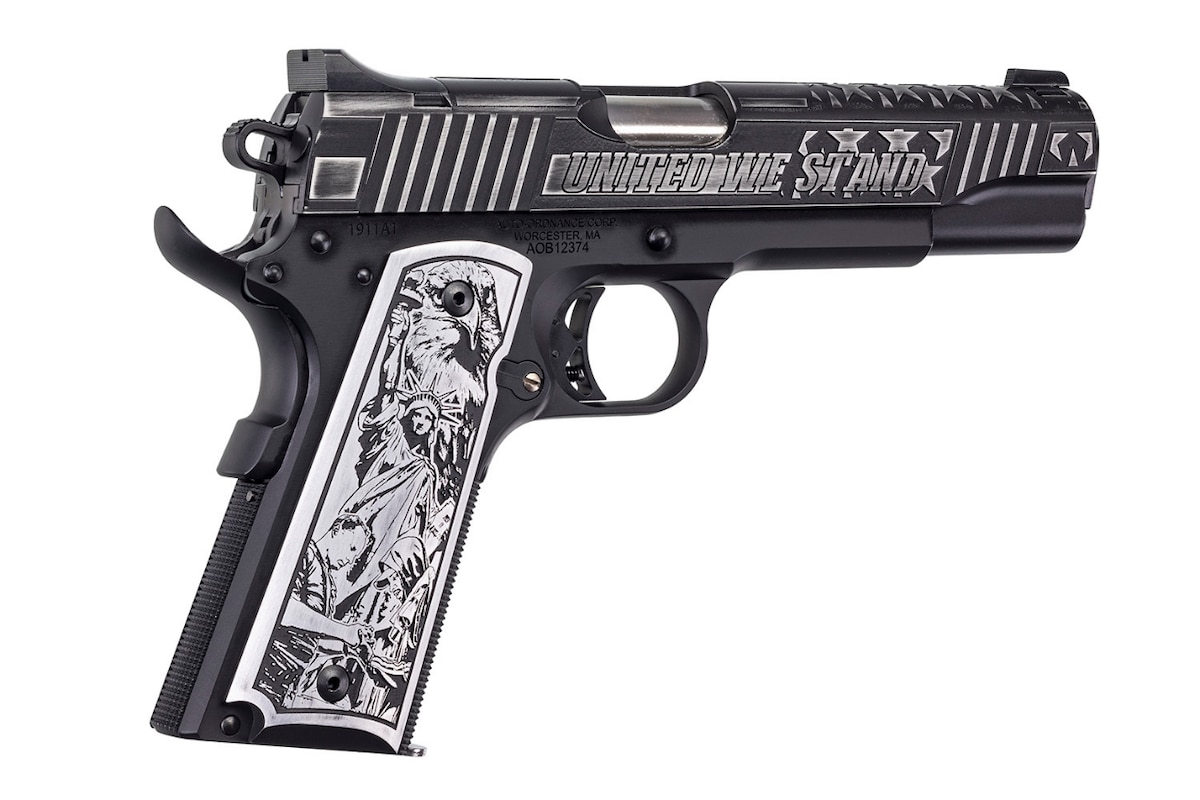 AUTO-ORDNANCE 1911TCAC5 1911 United We Stand ENGRAVED FACTORY BLEM