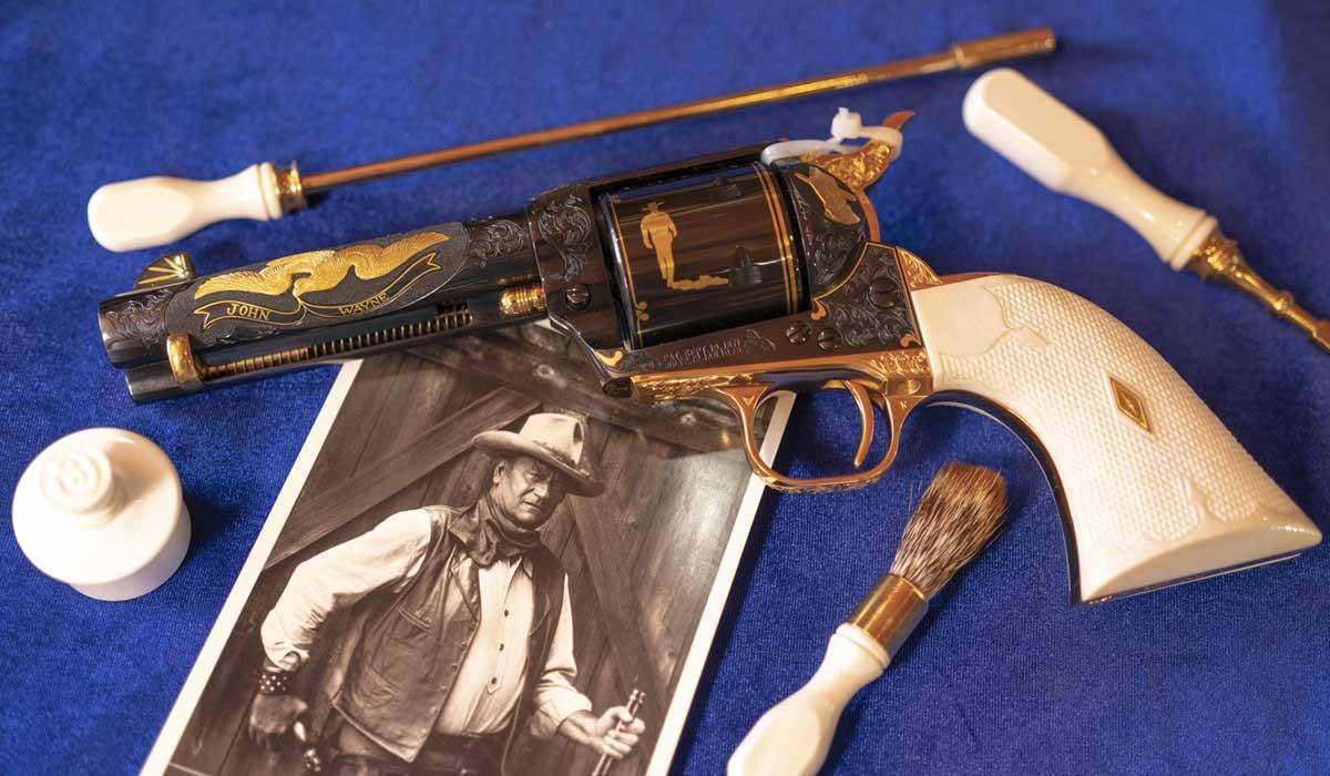 john wayne colt revolver engraved heirloom tombstone bphilippi