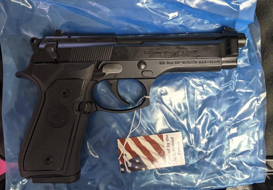 BERETTA Beretta M9 COMMERCIAL LE | Military 9mm Pistol 10+1 Rounds CA & MA COMPLIANT J92M9A0LE