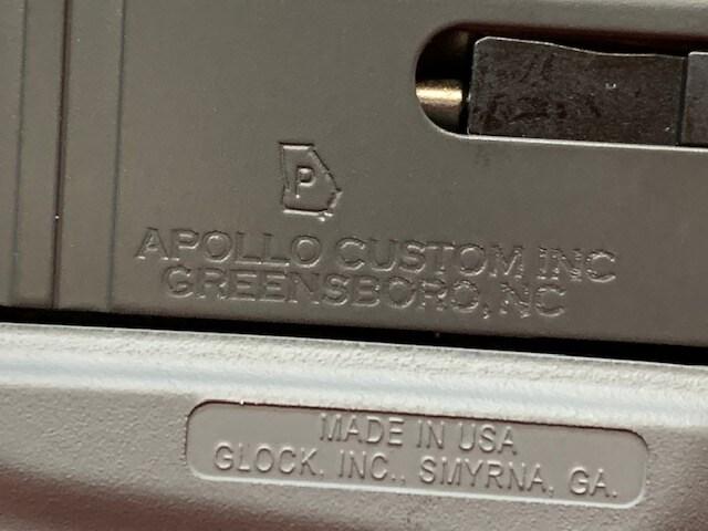 GLOCK 43 G43 9MM APOLLO CUSTOM CONGRY CONCRETE GRAY WITH GRAY SLIDE ACG-57009