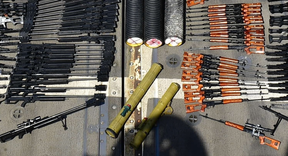 seized weapons cache