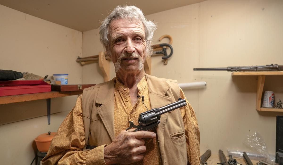 Don Mott, armorer for the Vigilantes