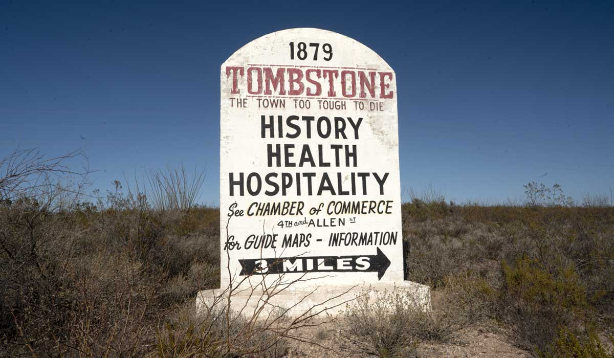 sign marker for the town of Tombstone