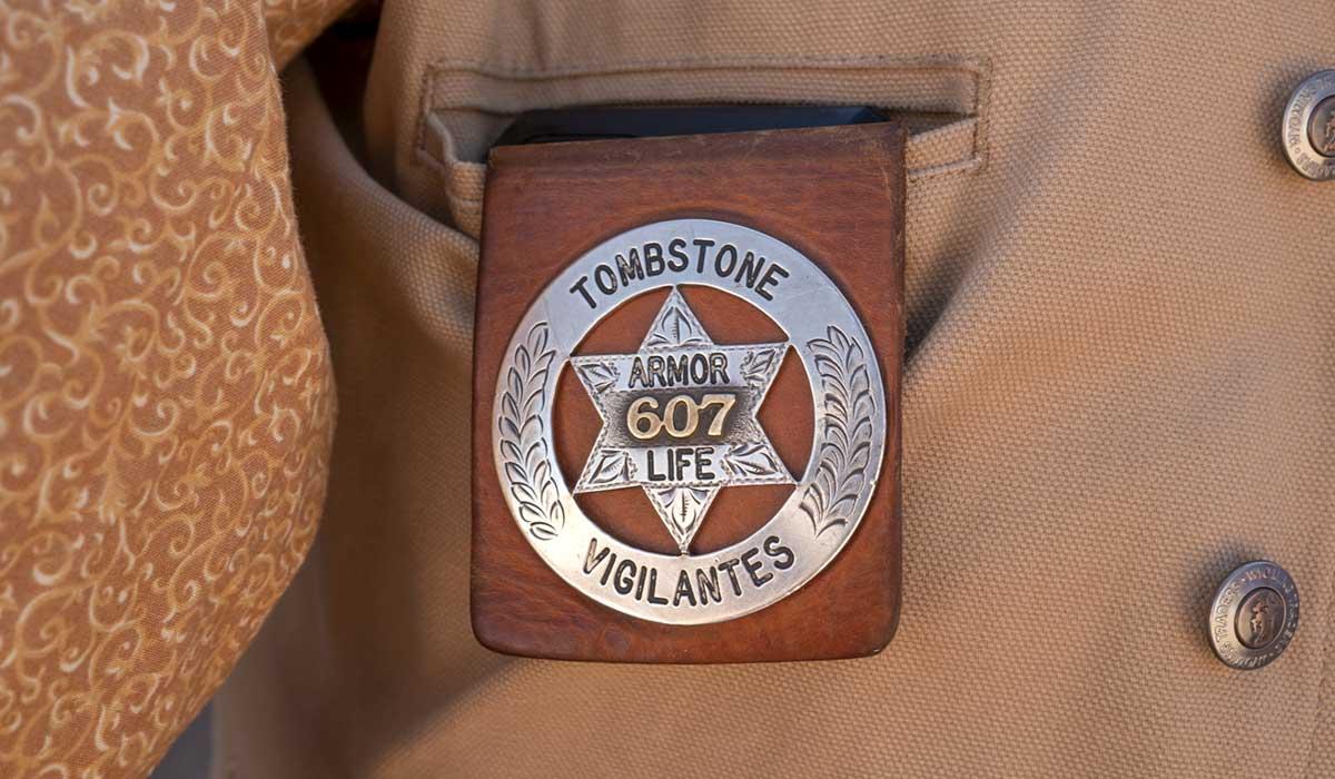 Armorer Don Mott's badge
