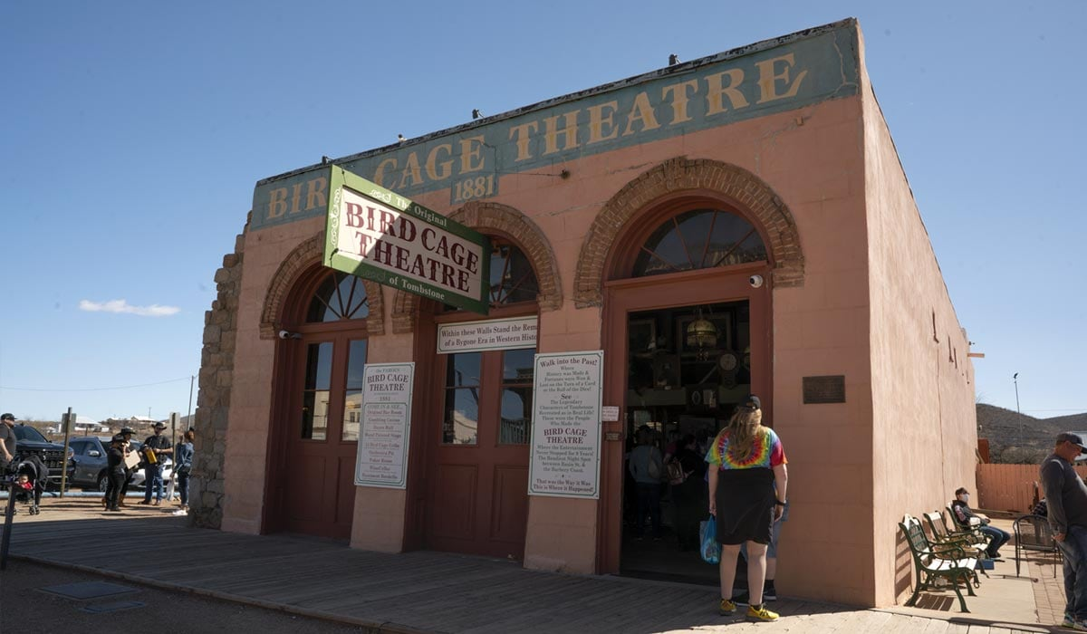 famous Birdcage Theater.
