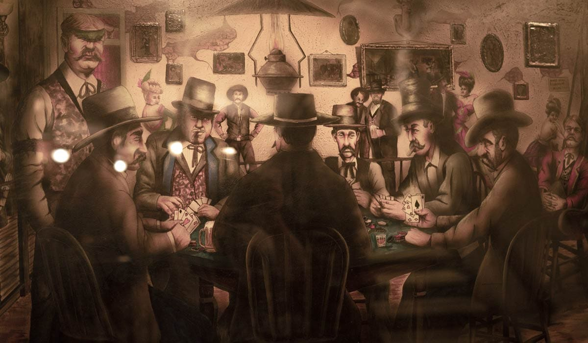 The longest known poker game took place at the Birdcage Theater