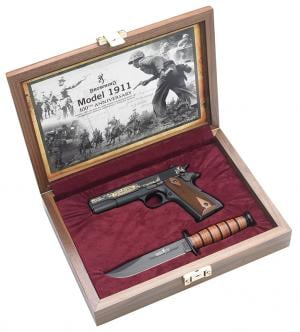 Browning 1911-22 Commemorative Pistol w/Case & Knife