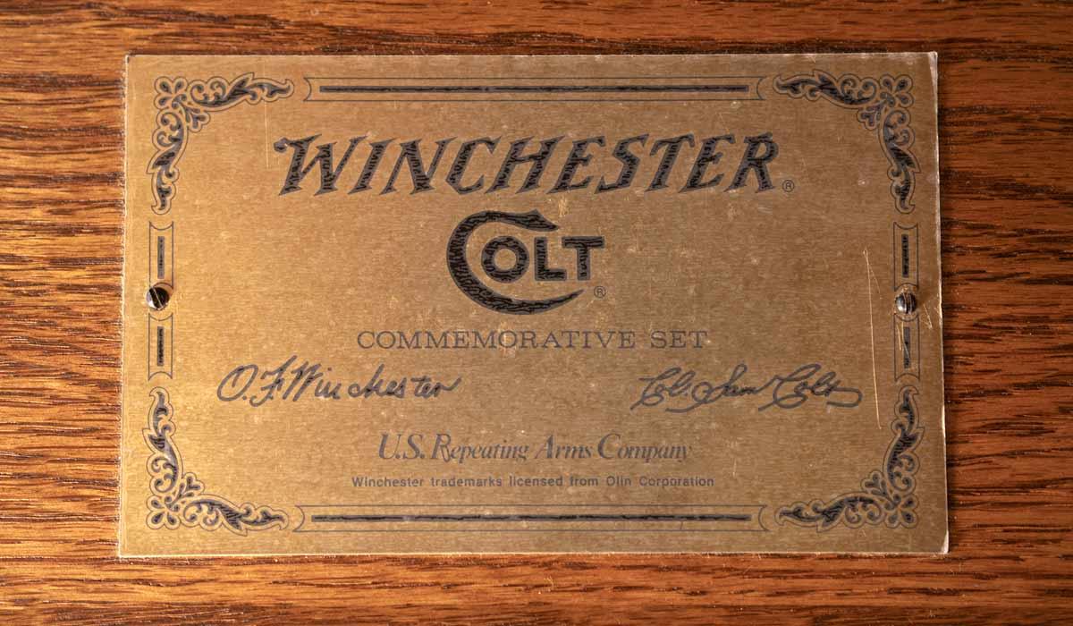 Colt andWinchester Commemorative Match Set
