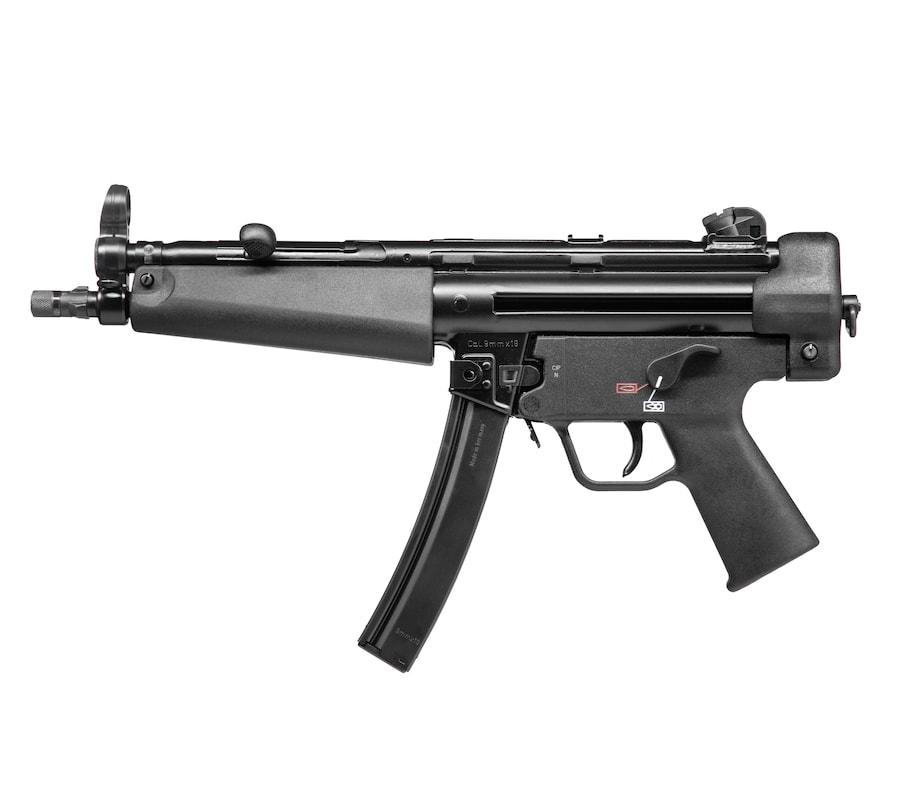"HK SP5 PISTOL 9MM BLK 8.86"" 30+1 81000477|BUNGEE SLING|2 MAGS 9mm"
