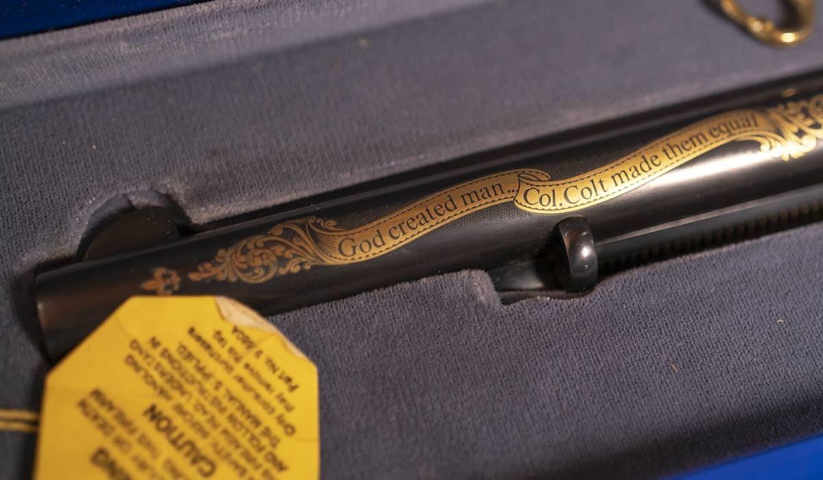 Colt Armorer's Commemorative revolver