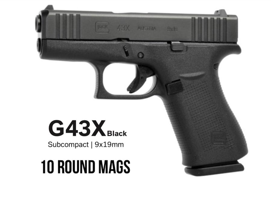 GLOCK 43X 43 X G43X Black