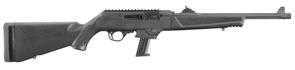 """RUGER PC CARBINE 9MM BL/SYN 16"""" 17+1 19100 