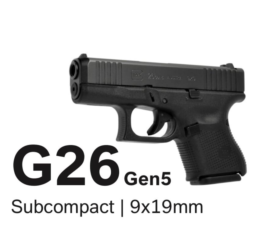 GLOCK 26 G26 GEN 5 BABY GLOCK