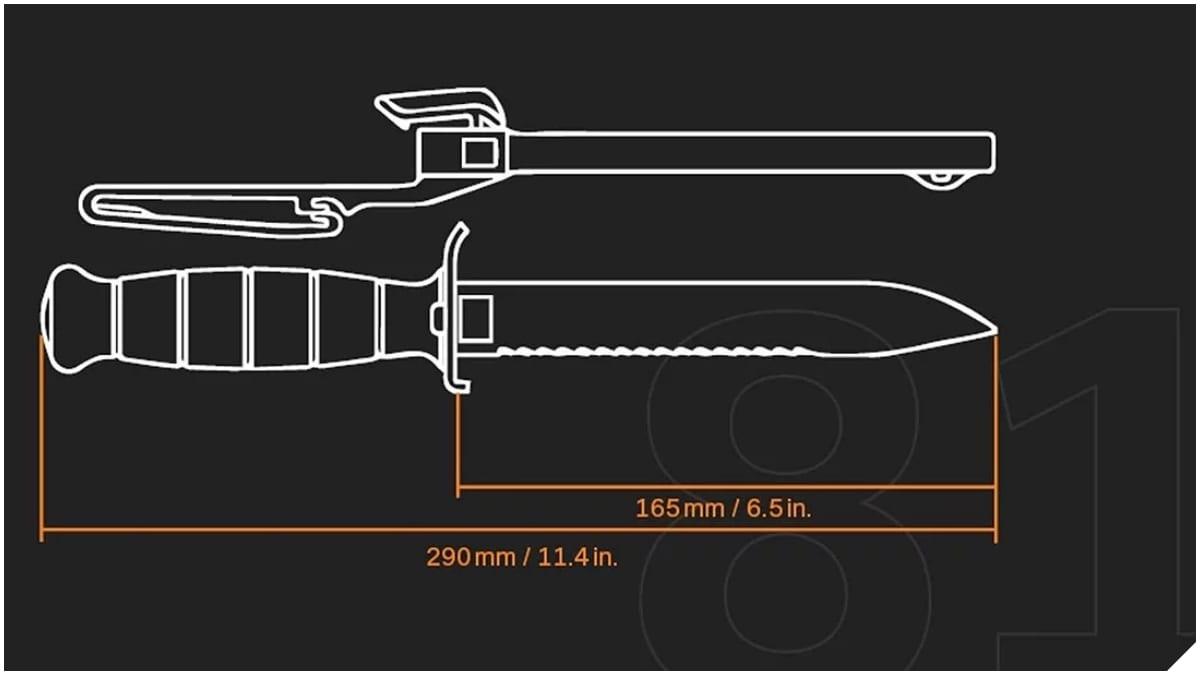 glock knife blueprint