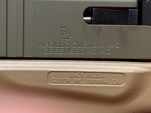 GLOCK 43 G43 9MM APOLLO CUSTOM DARK EARTH ACG-00858