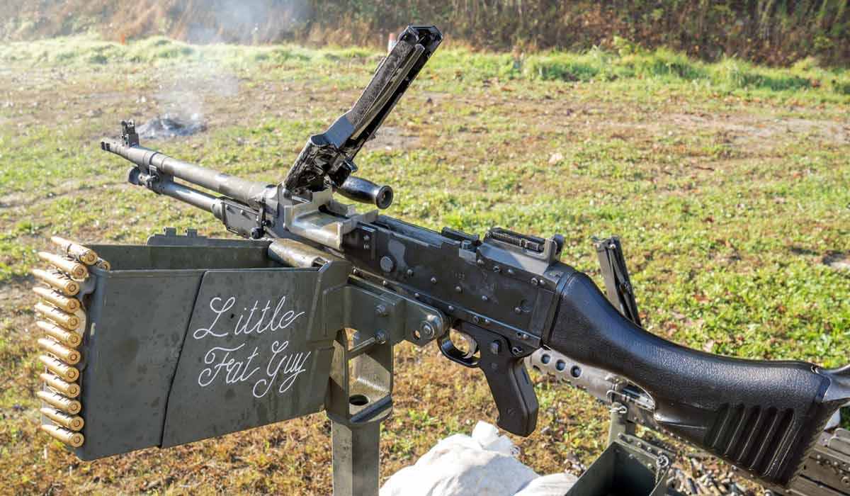 FN M240 belonging to Little Fat Guy at the Knob Creek Machine Gun Shoot