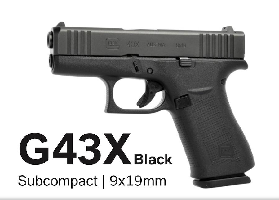GLOCK 43X 43 X G43X ALL BLACK
