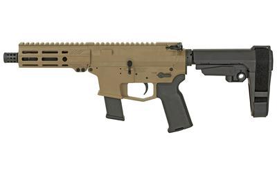 "ANGSTADT ARMS UDP-9 Pistol with SBA3 Brace 9mm Luger 15rd Magazine 6"" Barrel FDE"