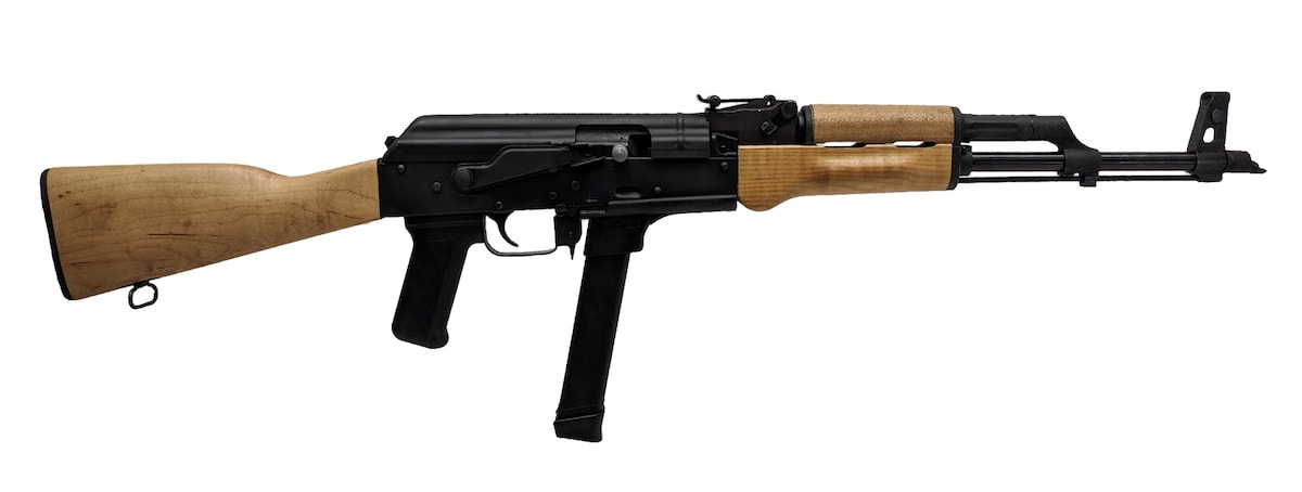 CENTURY ARMS WASR-M 9mm BL/WD 33+1 STAMPED RECEIVER 9mm